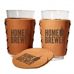 Two Pints + Two Coasters Gift Set: Home Brewer