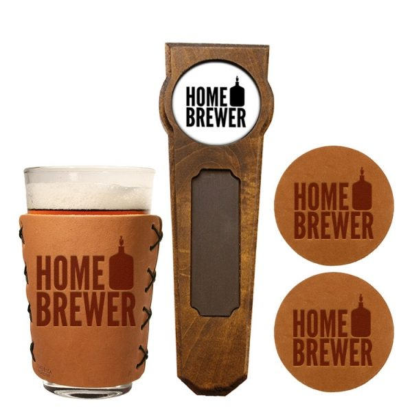 Tap Handle and Pint Glass Gift Set: Homebrewer