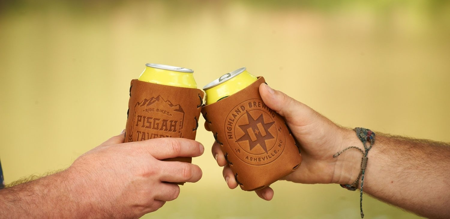 Oowee Products Custom Leather Beer Can Holder
