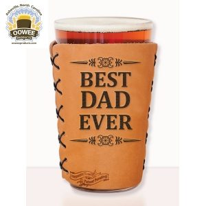 Dad Pint, leather pint koozie
