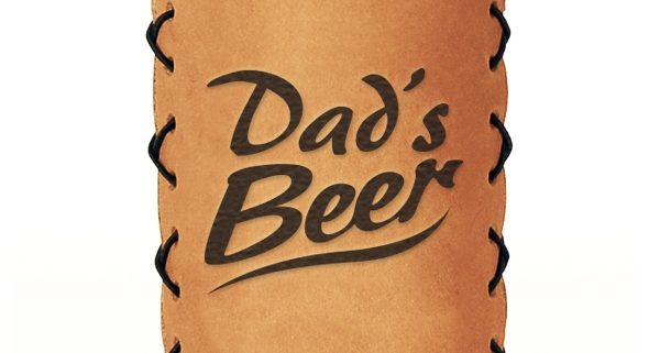 dad's beer leather can cooler