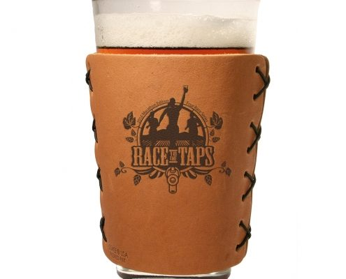 race to the taps leather pint sleeve