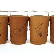 music lover leather koozie