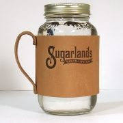 sugarlands distilling leather mason jar sleeve