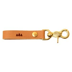 SLIM Leather Key Chain: Pine Trees