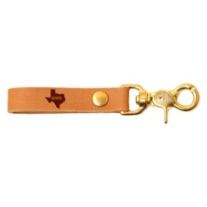 SLIM Leather Key Chain: TX Home