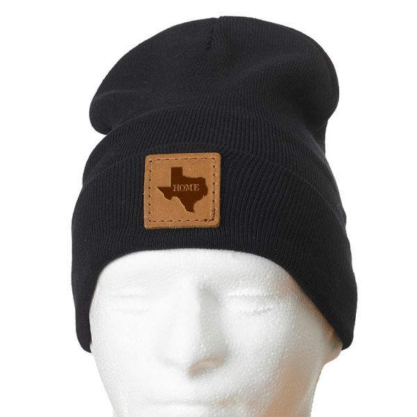 """12"""" Cotton Blend Fold Beanie with Patch: TX Home"""