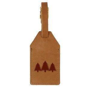 Sewn Tag: Pine Trees