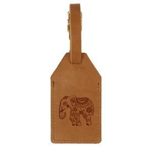 Sewn Tag: Elephant Mandala