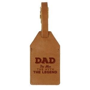 Sewn Tag: Dad - Man, Myth, Legend