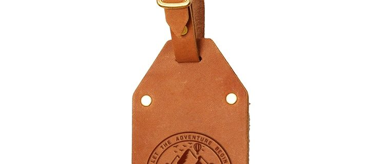 Riveted Double Sided Luggage Tag with Buckle: Explore