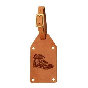 Riveted Double Sided Luggage Tag with Buckle: Hike More, Worry Less