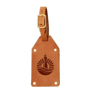 Riveted Double Sided Luggage Tag with Buckle: Light House