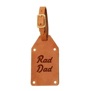 Riveted Double Sided Luggage Tag with Buckle: Rad Dad