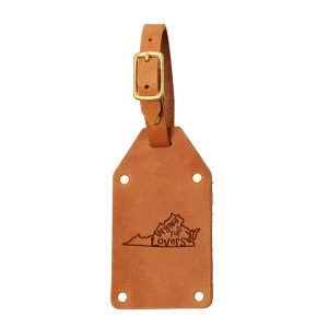 Riveted Double Sided Luggage Tag with Buckle: VA is for Lovers