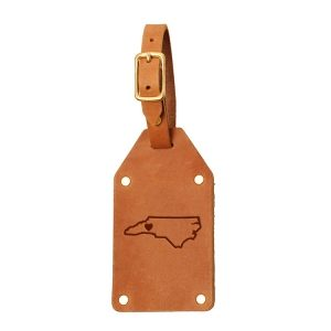 Riveted Double Sided Luggage Tag with Buckle: WNC Heart