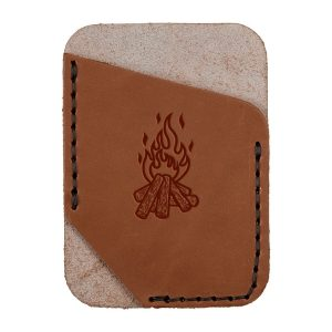 Single Vertical Card Wallet: Camp Fire