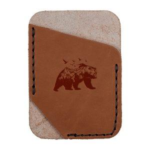 Single Vertical Card Wallet: Mountain Bear