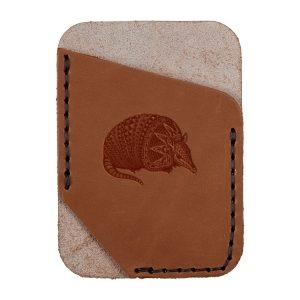 Single Vertical Card Wallet: Armadillo