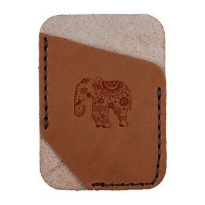 Single Vertical Card Wallet: Elephant Mandala