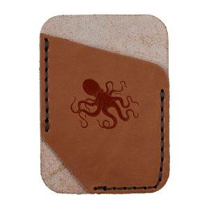Single Vertical Card Wallet: Octopus