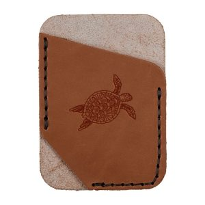 Single Vertical Card Wallet: Sea Turtle