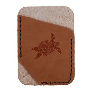Single Vertical Card Wallet: Sea Turtle