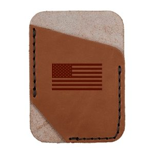 Single Vertical Card Wallet: American Flag