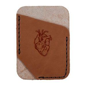 Single Vertical Card Wallet: Heart