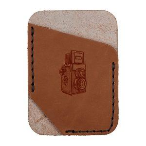 Single Vertical Card Wallet: Twin Lens Camera
