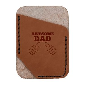 Single Vertical Card Wallet: Awesome Dad