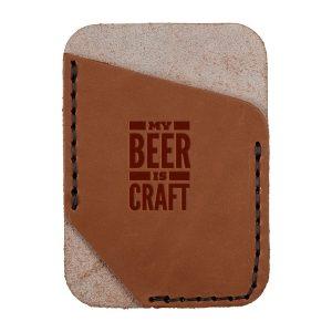 Single Vertical Card Wallet: My Beer is Craft