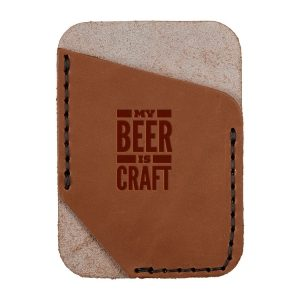 Single Vertical Card Wallet: My Beer is Craft