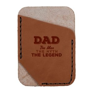 Single Vertical Card Wallet: Dad - Man, Myth, Legend