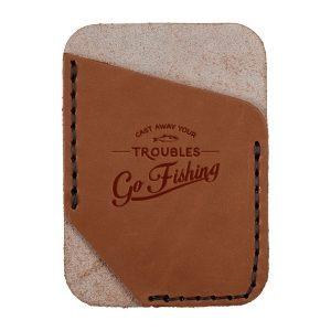 Single Vertical Card Wallet: Go Fishing