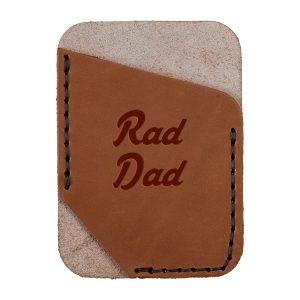 Single Vertical Card Wallet: Rad Dad