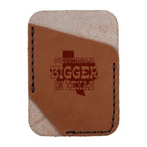 Single Vertical Card Wallet: Bigger In TX