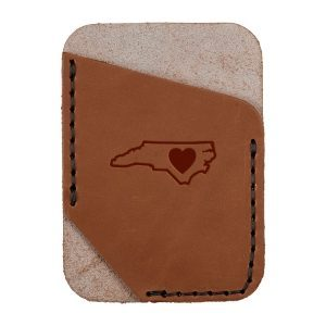 Single Vertical Card Wallet: NC Heart