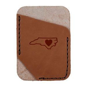 Single Vertical Card Wallet: NC Heart