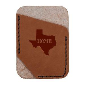 Single Vertical Card Wallet: TX Home