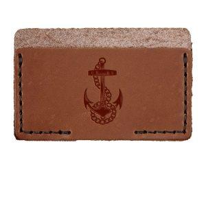 Single Horizontal Card Wallet: Anchor