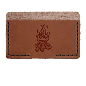 Single Horizontal Card Wallet: Camp Fire
