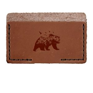 Single Horizontal Card Wallet: Mountain Bear
