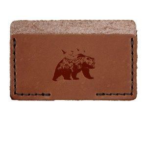 Single Horizontal Card Wallet: Mountain Bear