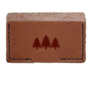 Single Horizontal Card Wallet: Pine Trees