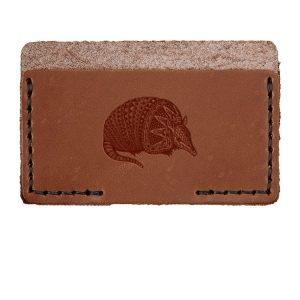 Single Horizontal Card Wallet: Armadillo