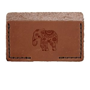 Single Horizontal Card Wallet: Elephant Mandala