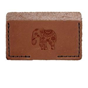 Single Horizontal Card Wallet: Elephant Mandala
