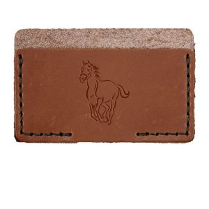 Single Horizontal Card Wallet: Horse