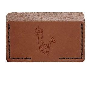 Single Horizontal Card Wallet: Horse